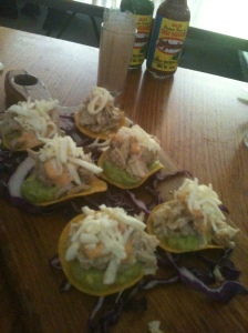 Tostadas = Mexican canapes = waste of stomach space