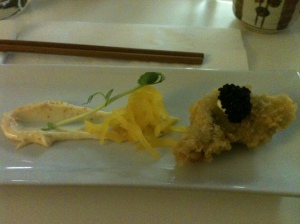Tempura oyster - showed no signs we were in a Fish and Chip shop.