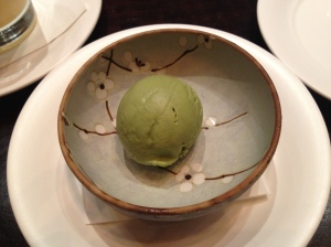 Green tea ice cream - give it a go.