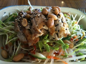 Asian salad....I loved the dressing.